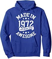 Made In 1972 49 Years Old Bday 49th Birthday Gift T-shirt Hoodie Royal Blue
