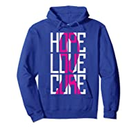 Breast Cancer Awareness Month T Shirt I Pink Ribbon Gift Hoodie Royal Blue