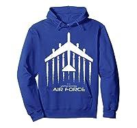 Air Force B 52 Bomber American Flag Veteran Shirts Hoodie Royal Blue