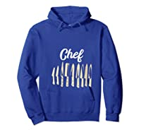 Chef Cooking Vintage Knives Funny Culinary Chefs Gifts T Shirt Hoodie Royal Blue