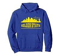 Golden State Distressed Basketball Team Fan Warrior Shirts Hoodie Royal Blue