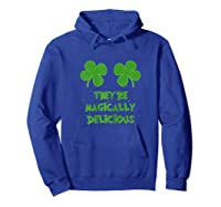 Funny Shamrock Boobs Saint St Patrick S Paddys Day T Shirt Hoodie Royal Blue