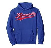 Minnesota Baseball Vintage Minneapolis Baseball Retro Gift Shirts Hoodie Royal Blue