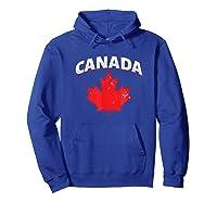 Toronto Vancouver Patriotic Canadian Canada Maple Leaf Shirts Hoodie Royal Blue