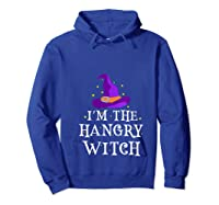 I'm The Hangry Witch Halloween Costume Funny Foodie Gift Shirts Hoodie Royal Blue