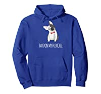 Perky Ears Funny Frenchie Lover Gift Baseball Shirts Hoodie Royal Blue