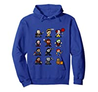 Friends Pixel Halloween Icons Scary Horror Movies Tank Top Shirts Hoodie Royal Blue