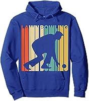 Vintage Style Lawn Bowling Silhouette T-shirt Hoodie Royal Blue