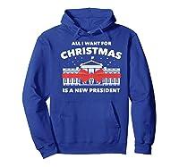 Resist And Impeach President For Christmas 2020 Anti Trump Premium T Shirt Hoodie Royal Blue