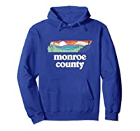 Monroe County Tennessee Outdoors Retro Nature Graphic Tank Top Shirts Hoodie Royal Blue