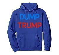 Funny Impeach Trump 45 Anti President Dump Trump Gift T Shirt Hoodie Royal Blue