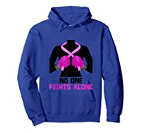 Husband Of A Warrior Breast Cancer Awareness Month Gift Tank Top Shirts Hoodie Royal Blue