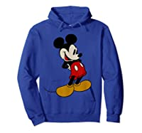 Disney Mickey Mouse Smile T Shirt Hoodie Royal Blue