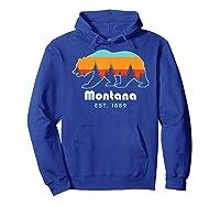 Montana 1889 Wilderness Mountain Wildlife Bear Tshirt Hoodie Royal Blue