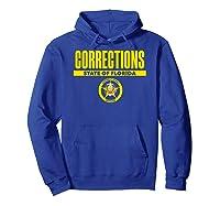 Florida Correctional Officer Thin Gray Line Flag Shirts Hoodie Royal Blue