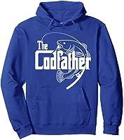 S Codfather Cod Fishing Fisherman Angler Novelty Humor Gifts T-shirt Hoodie Royal Blue