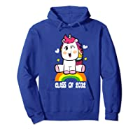 Unicorn First Day Of School Class Of 2032 Grow With Me Premium T-shirt Hoodie Royal Blue