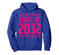 Class Of 2032 Stars Grow With Me First Day Kindergarten Gift T-shirt Hoodie Royal Blue