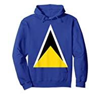 Saint Lucia Independence Day Flag Caribbean Carnival Tshirt Hoodie Royal Blue