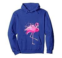 Funny Flamingo Breast Cancer Awareness October Ribbon Pink T Shirt Hoodie Royal Blue