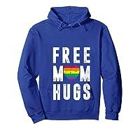 Lgbt X Pride - Cute Mother Distressed Lgbt Free Mom Hugs T-shirt Hoodie Royal Blue