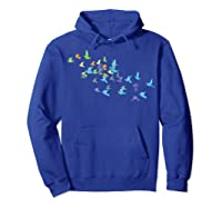 Origami Paper Cranes Japanese Culture Bird Lovers Gift T Shirt Hoodie Royal Blue