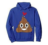 Love Poop Emoji Heart And Flies Valentine S Day T Shirt Hoodie Royal Blue