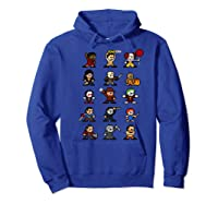Friends Pixel Halloween Icons Scary Horror Movies Premium T Shirt Hoodie Royal Blue