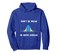 Don T Be Mean Be Above Average Funny Math Lover Gift T Shirt Hoodie Royal Blue