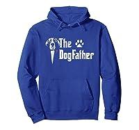 S The Dogfather Saint Bernard Dog Dad Tshirt Father S Day Gif Hoodie Royal Blue