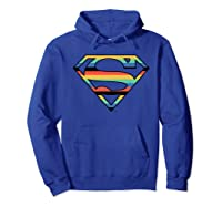 Dc Comics Superman Retro Logo Shirts Hoodie Royal Blue