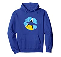 Saint Lucia Independence Day Flag Lips T Shirt Hoodie Royal Blue