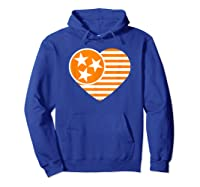 Tennessee Flag Shirt Vintage Distressed Usa Heart T Shirt Hoodie Royal Blue