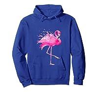 Funny Flamingo Breast Cancer Awareness October Ribbon Pink Tank Top Shirts Hoodie Royal Blue
