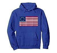 Betsy Ross Flag Usa T Shirt Hoodie Royal Blue