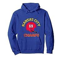 Retro Kansas City Football Helmet Vintage Kc 69 Champs Shirts Hoodie Royal Blue