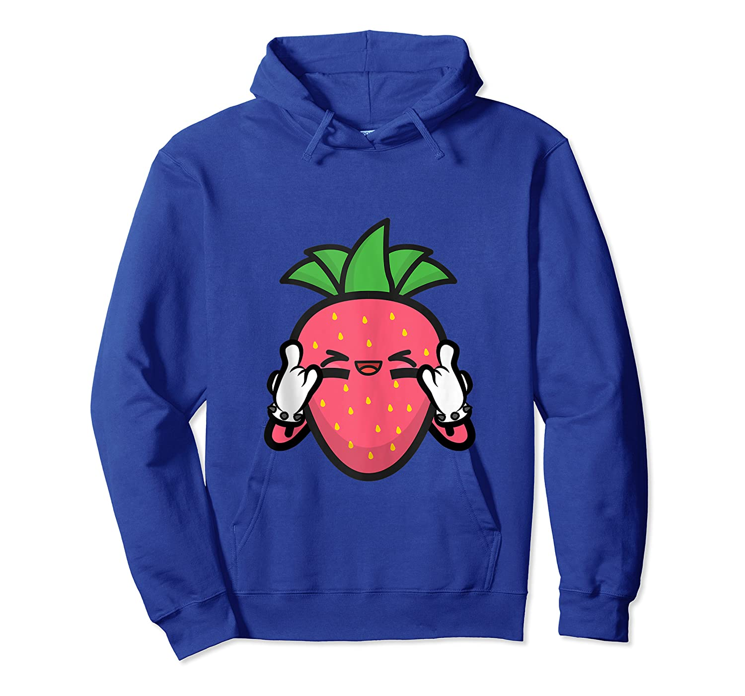 Strawberry Rock Roll Rocker Gift Sign Of Horns Shirts Unisex Pullover Hoodie