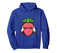 Strawberry Rock Roll Rocker Gift Sign Of Horns Shirts Hoodie Royal Blue