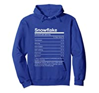 Funny Snowflake Nutrition Facts Family Christmas Parody Tank Top Shirts Hoodie Royal Blue