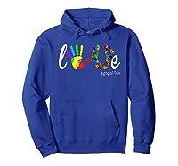 Colorful Love Gaga Life T Shirt Hoodie Royal Blue