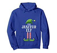 Janitor Elf Matching Family Group Christmas Party Pajama T-shirt Hoodie Royal Blue