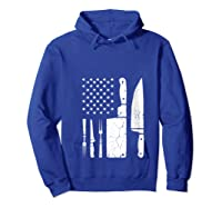 Chef Cooking American Flag Vintage Culinary Chefs Gifts T Shirt Hoodie Royal Blue