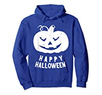Funny Happy Halloween Costumes Scary Spooky Pumpkin Costume Shirts Hoodie Royal Blue
