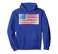 B Ross Flag Of Usa Weathered Shirts Hoodie Royal Blue
