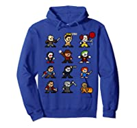 Friends Pixel Halloween Icons Scary Horror Movies T Shirt Hoodie Royal Blue