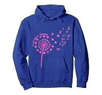 Dandelion Breast Cancer Awareness T Shirt Hoodie Royal Blue