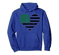 Saint Patricks Day Us Flag Four Leaf Clover Shamrock T Shirt Hoodie Royal Blue