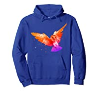 Flying Owl In Low Poly Style T Shirt Design Hoodie Royal Blue