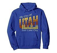 City Of Utah Shirt Salt Lake City Vintage State Gift T Shirt Hoodie Royal Blue