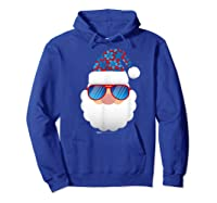 Cool Santa Emoticon In Sunglasses Christmas In July T Shirt Hoodie Royal Blue